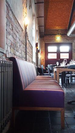 raumbauten - Restaurant Bullerei - Hamburg - Tim Mälzer - Polstermöbel - Sitzbank