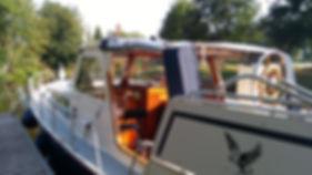 Pegasus au ponton sur le canal de Nantes a Brest
