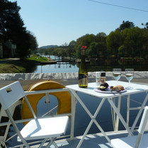 Lunch on aft deck