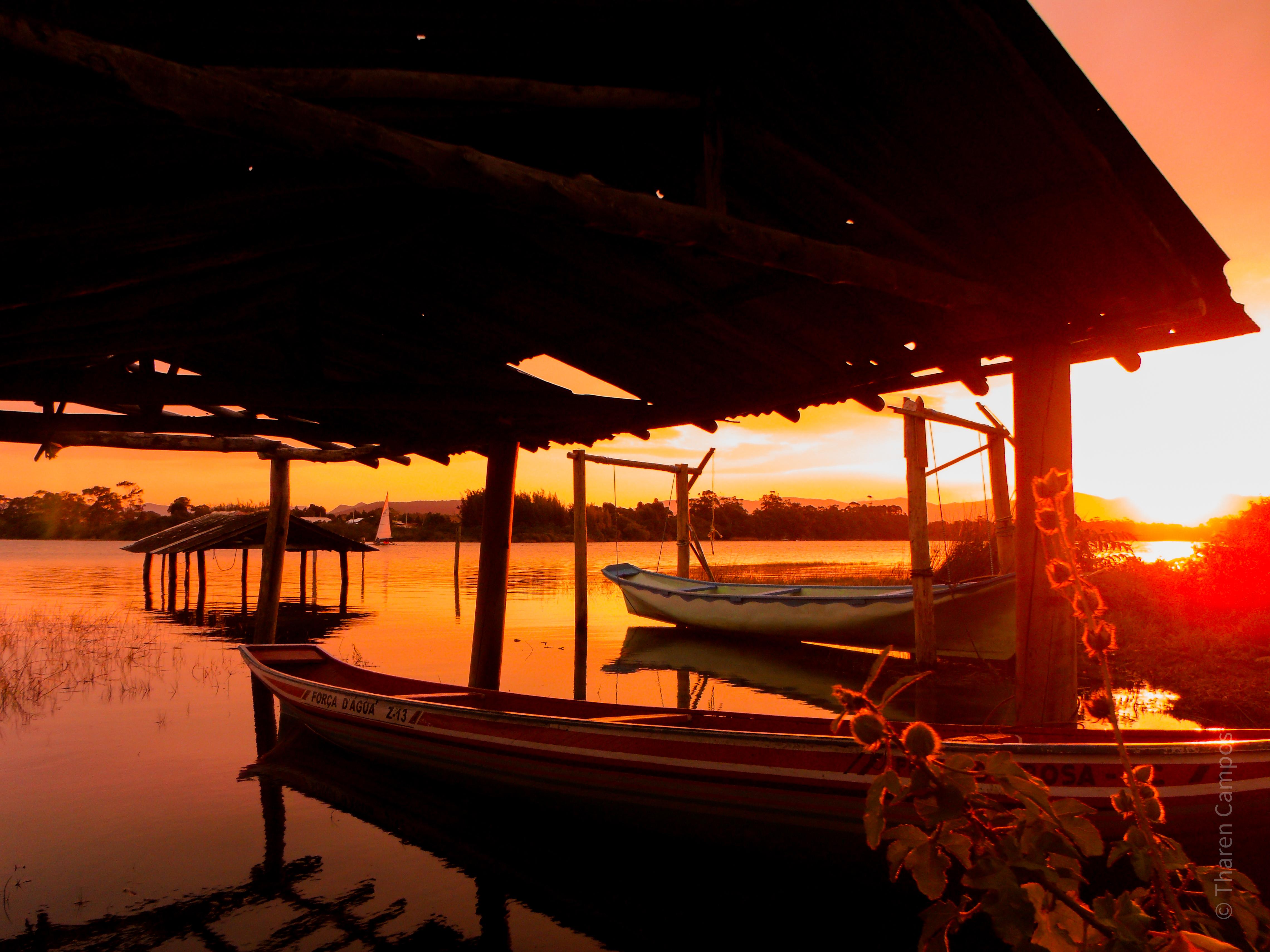 Lagoa de Ibiraquera - por do sol