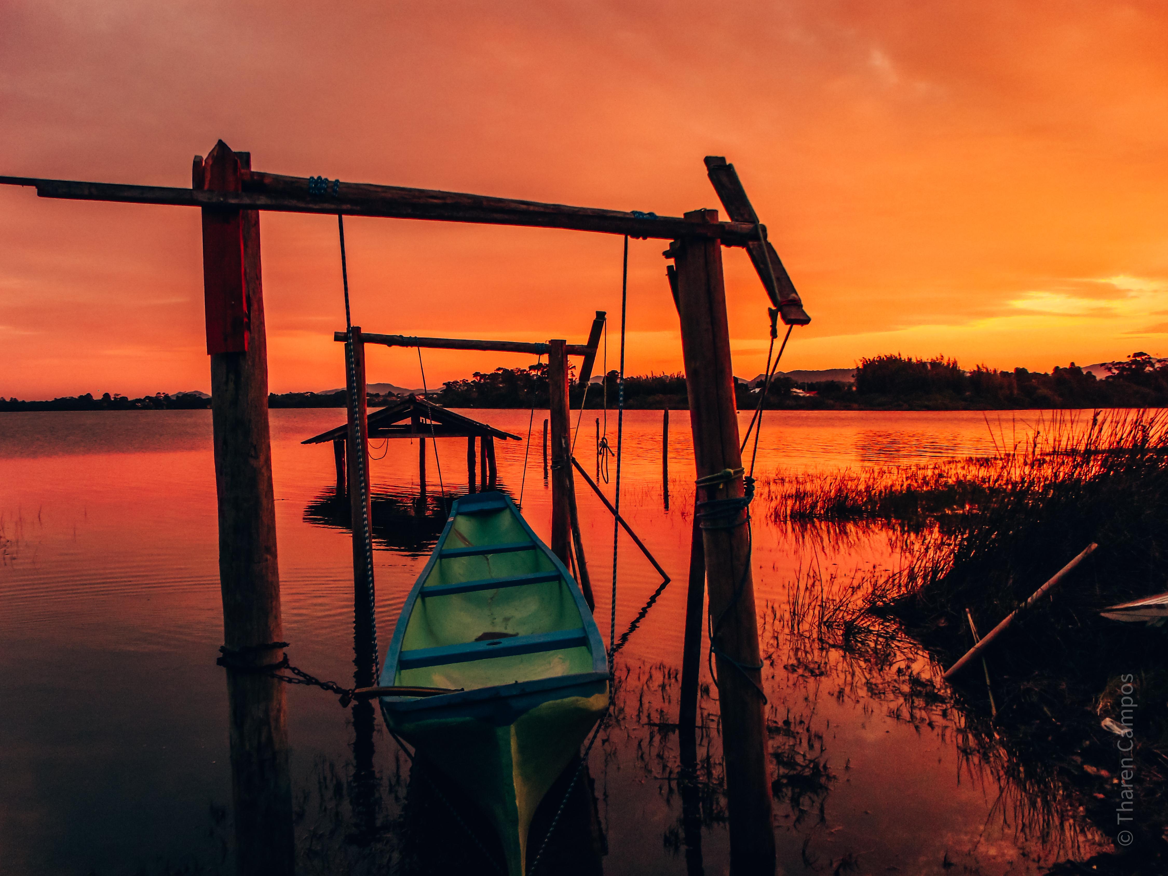 Lagoa de Ibiraquera- por do sol1
