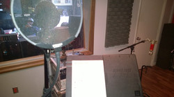 Getting ready to lay down the vocal
