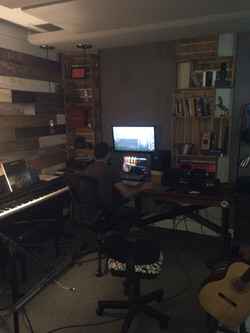 Daniel hard at work on the album