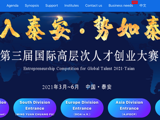Entrepreneurship Competition for Global Talent 2021 Taian City Shandong Province