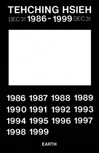 Tehching Hsieh 1986-1999 (Thirteen Year Plan, Poster)