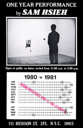 One Year Performance 1980-1981 (Time Clock Piece, Poster)