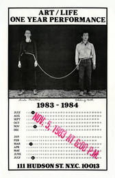 Art/Life One Year Performance 1983-1984 (Rope Piece, Poster)