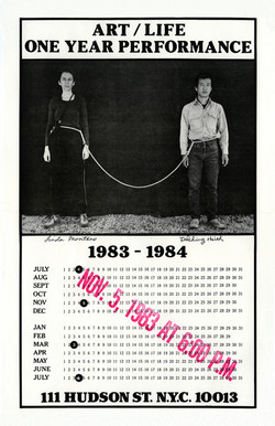 Art_Life One Year Performance 1983-1984 (Rope Piece, Poster)