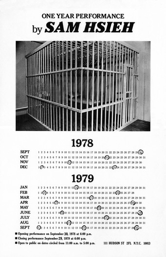 One Year Performance 1978-1979 (Cage Piece, Poster)