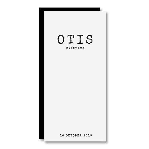 Geboortekaartje Otis