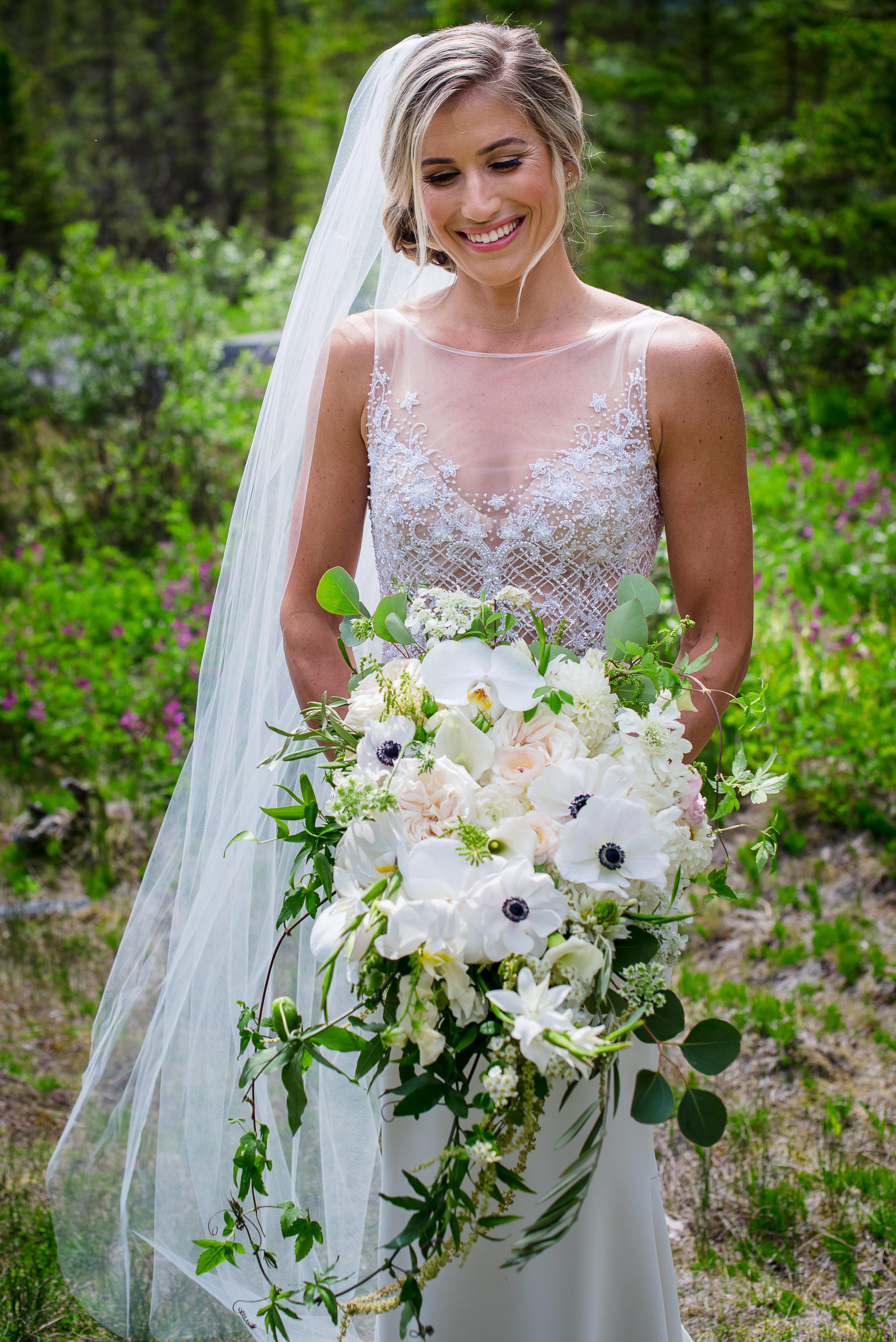Classic White Cascade Bouquet