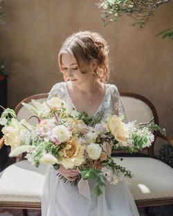 Lush Lemom Chiffon Peony Garden Bouquet