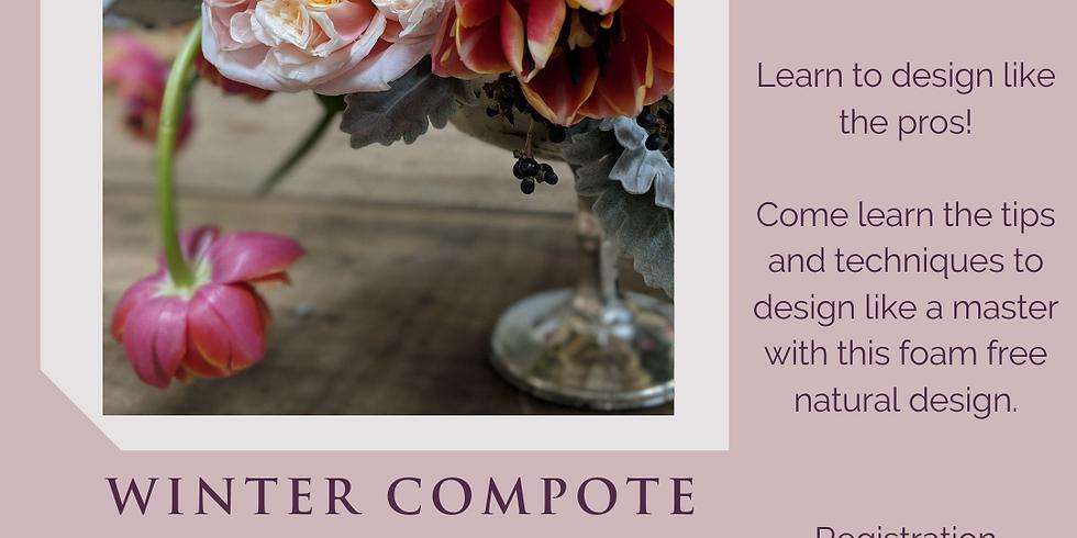 Winter Compote Vase Kit and Virtual Workshop