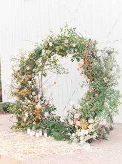 Eternity Ring Natural Floral Installation- Foam Free