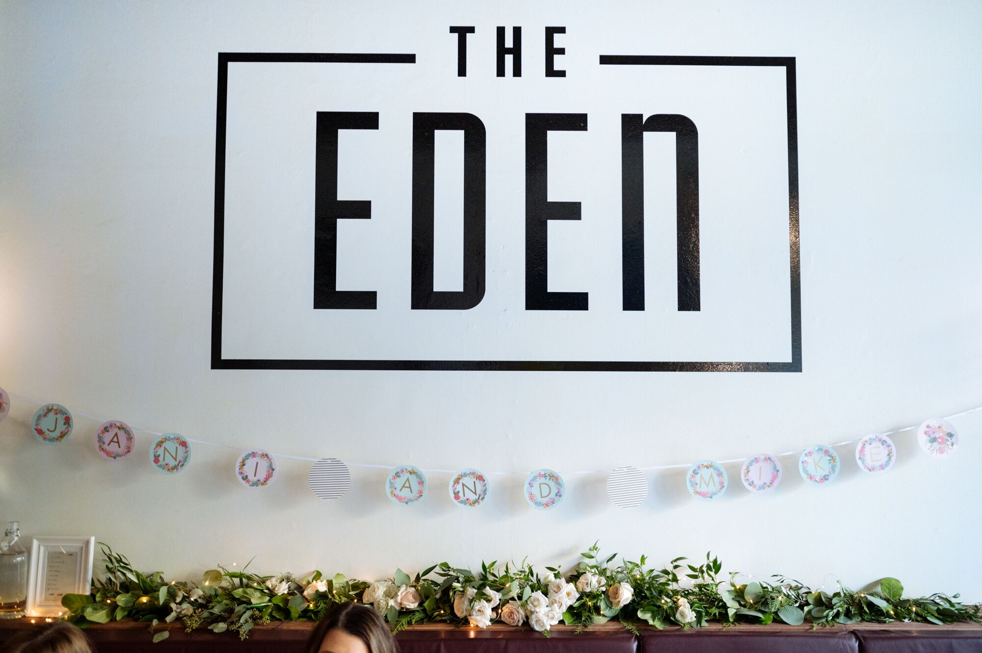 Eden Restaurant Reception Flowers