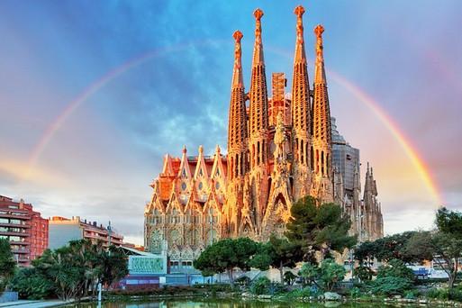 La Sagrada Familia Rainbow.jpg