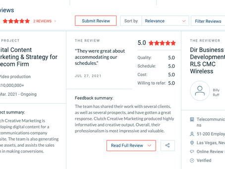 Clutch Creative Marketing Begins Journey on Clutch.co