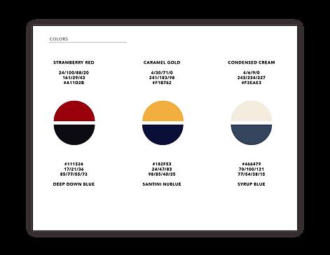 Santini Foods Styleguide_website_colors
