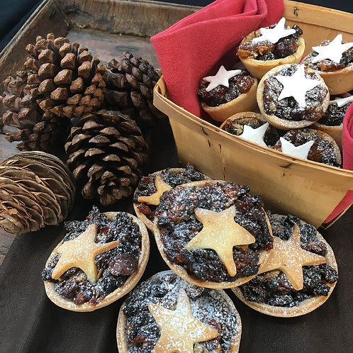 Baby Fruit mince tarts, decorated with a white star