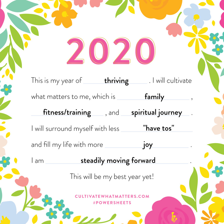 2020 Vision - Setting my intentions for the new decade