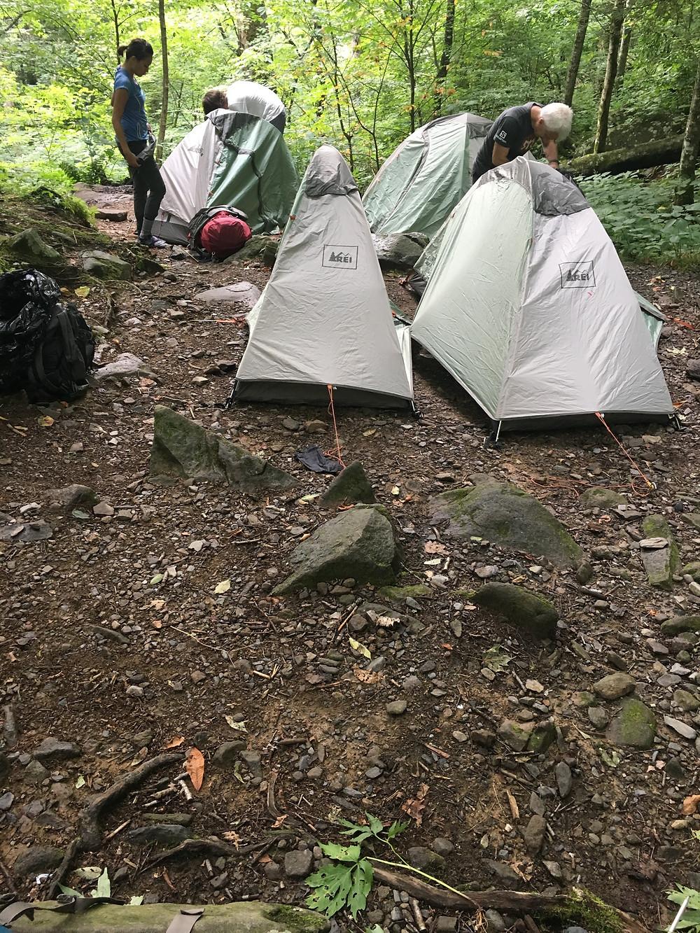 Single person tents are small