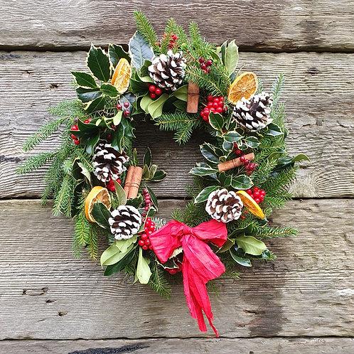 A Traditional Christmas Wreath