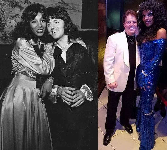 Kenny Jeremiah & Donna Summer in 1974 - Kenny and I 2017....Thanks for the pic....
