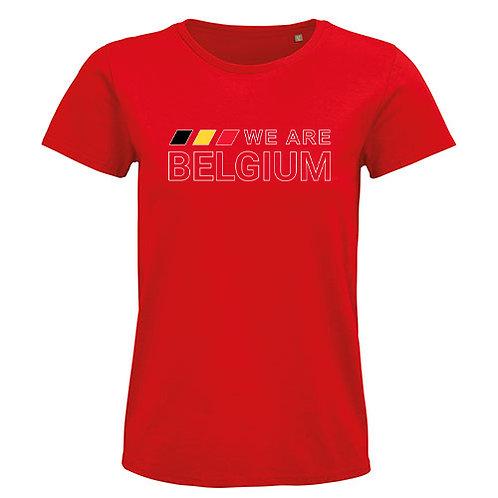 Heren T-shirt-we.are.belgium-rood