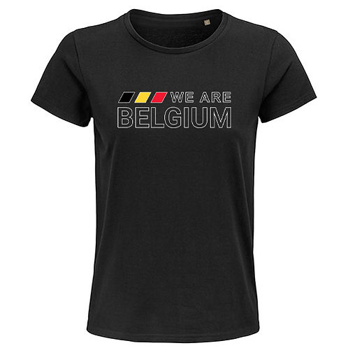 Heren T-shirt-we.are.belgium-zwart