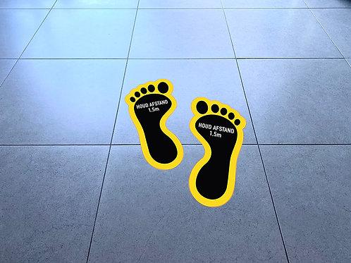 Vloersticker: paar voeten - 45x38cm (vanaf 10 stuks)
