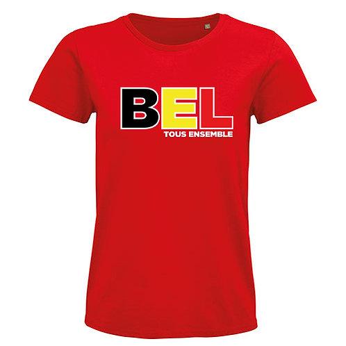 Heren T-shirt-BEL(GIUM)-rood