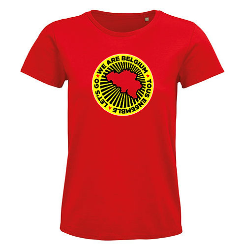 T-shirt-WE ARE BELGIUM-rood