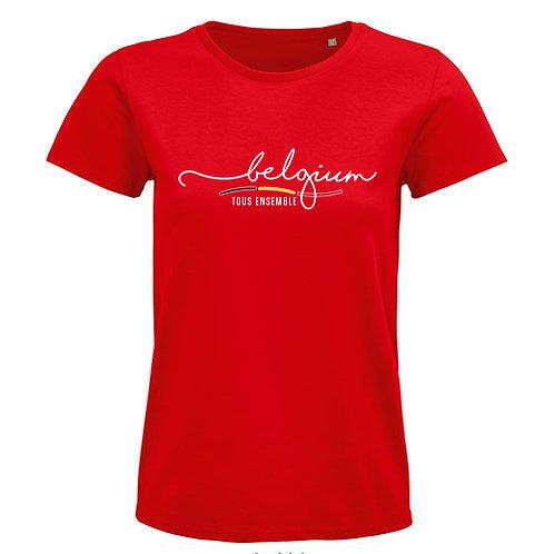 Dames T-shirt-tousensemble-rood