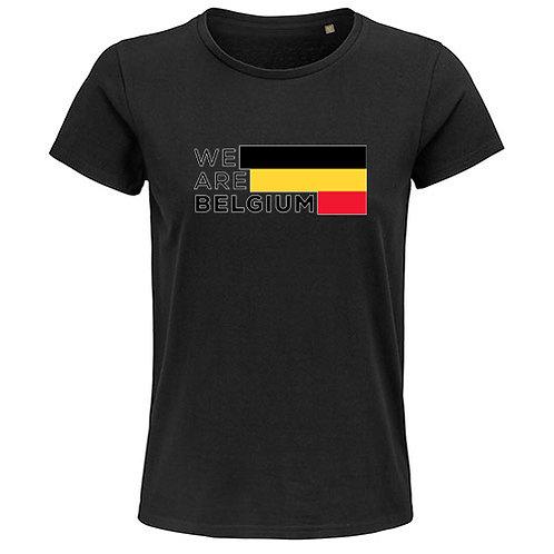 Dames T-shirt-we.are.belgium-zwart