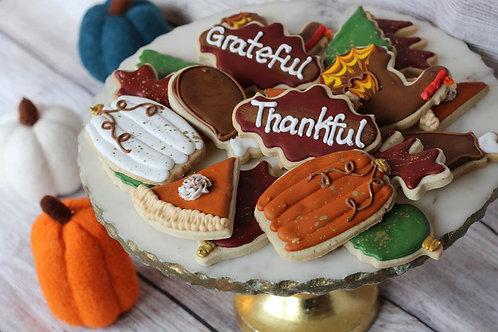 Thanksgiving Cookie Platter