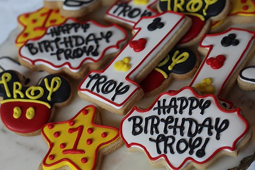 Mickey First Birthday Cookies
