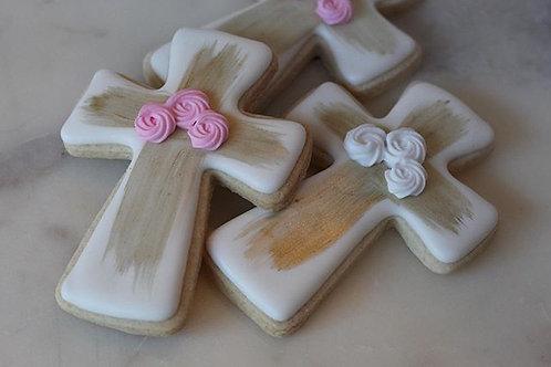 Flower Cross Cookies