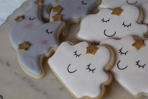 Moon and Cloud Cookies