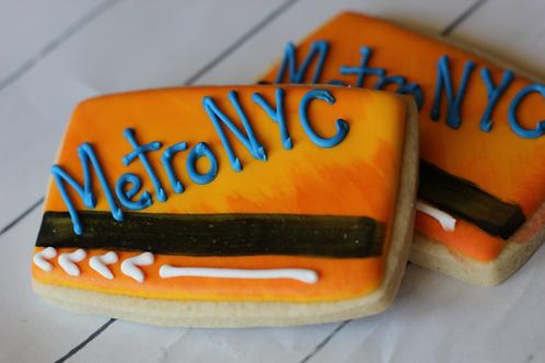 NYC Subway Train Ticket Cookie