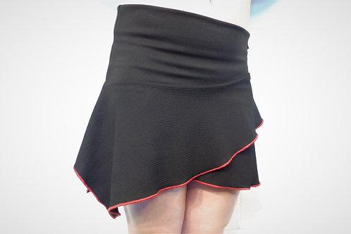 Jupe sport noire bordure rouge