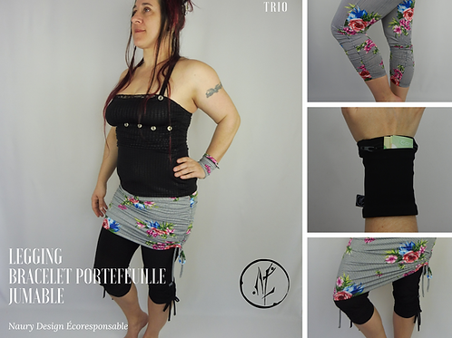 Trio Legging+Jumable+Bracelet portefeuille