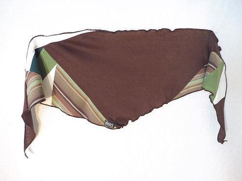 Foulard vert et brun rayé
