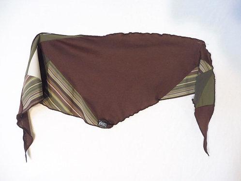 Foulard brun et kaki rayé