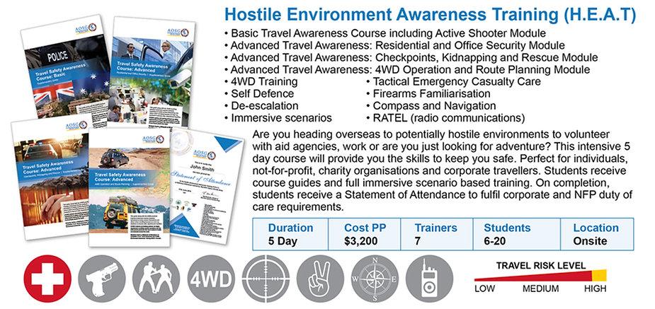 Hostile Environment Awareness Training- Australia