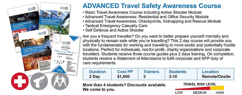 Advanced Travel Safety Courses Australia