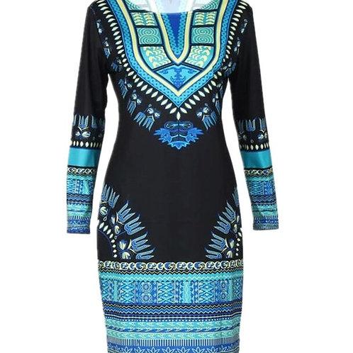Dashiki Stretch Dress