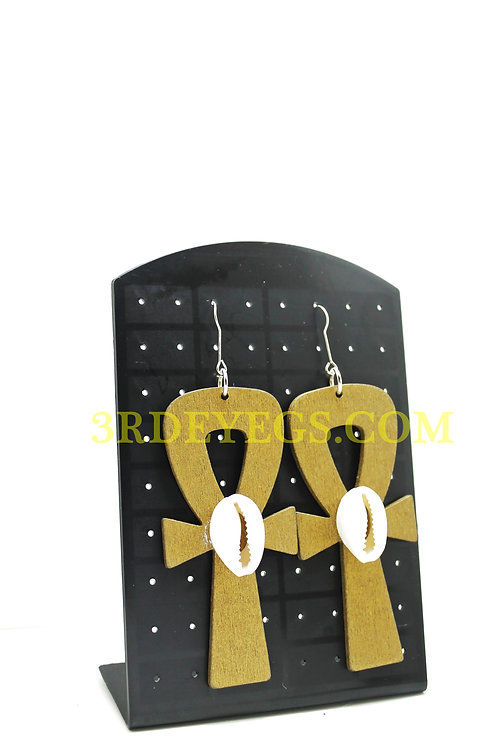 Seashell Ankh Earrings