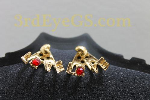 Heart Love Cuff Earrings