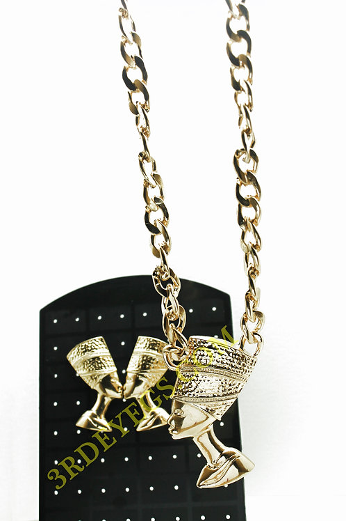 Gold Nefertiti Necklace