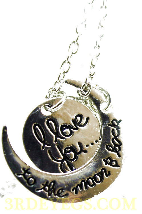 I love you-moon necklace